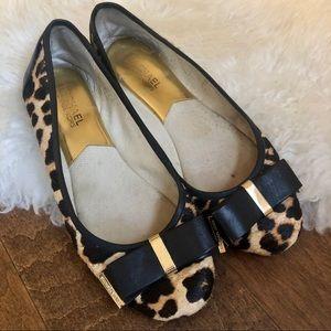 Michael Kors leopard flats